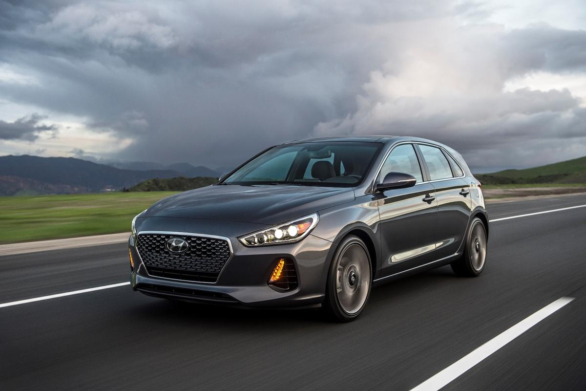 The Elantra GT Sport has 201 hp of power and a manual gearbox