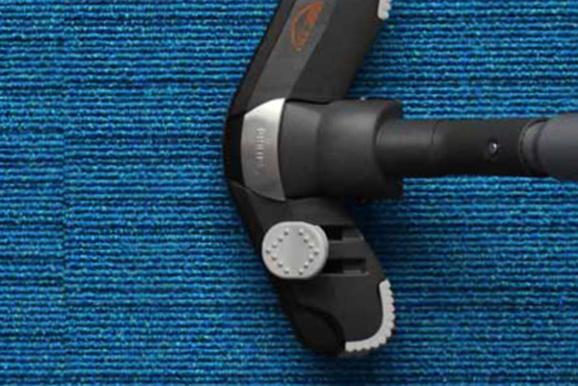 DESSO's AirMaster carpet traps fine particles and releases them during vacuuming