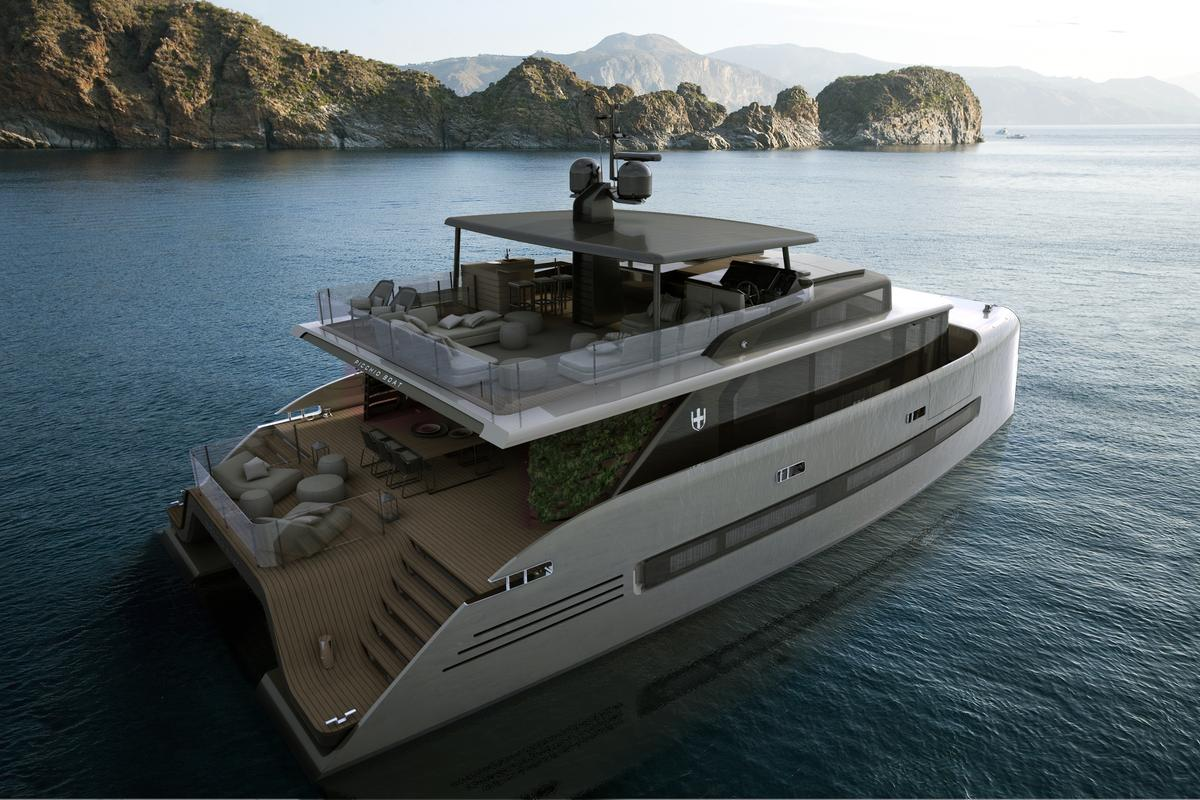 Picchio Boat is a luxury catamaran concept which boasts a glass-bottom master bedroom