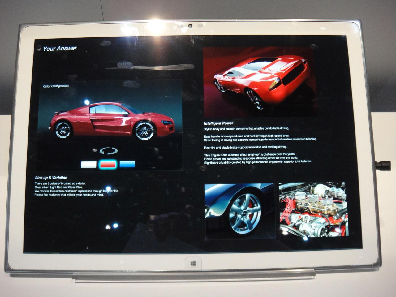 The tablet uses a 1.8 Ghz Intel Corei5 processor to smoothly run applications on Windows 8 Pro, including Adobe Photoshop