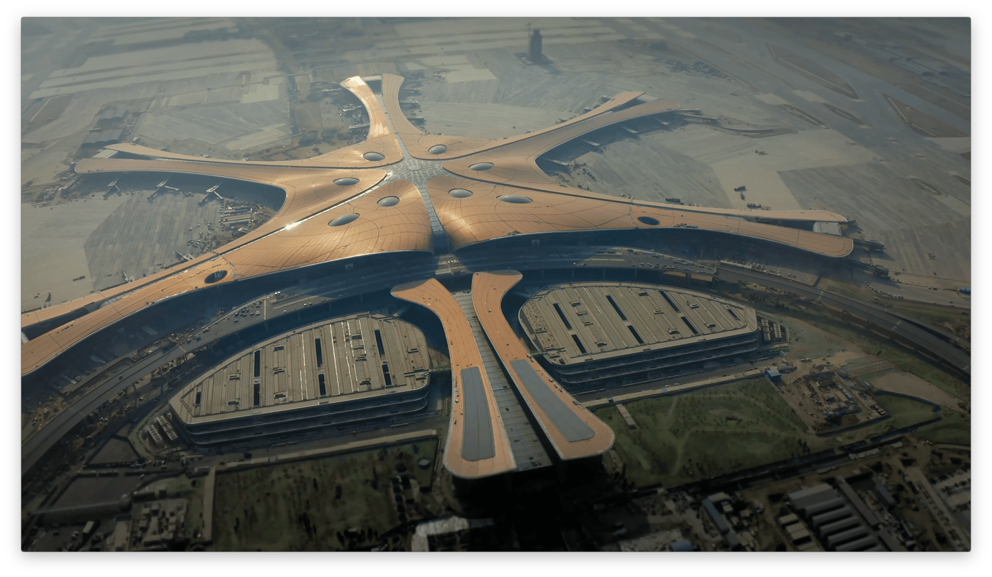 The Beijing Daxing International Airport cost a reported 450 billion Yuan (roughly US$63 billion)