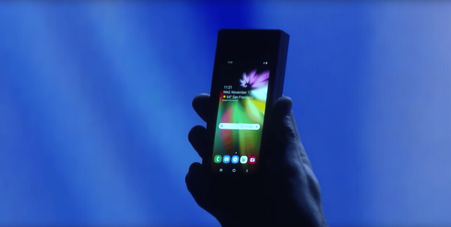 Samsung's Infinity Flex Display has a regular-sized phone screen on the outside of the device