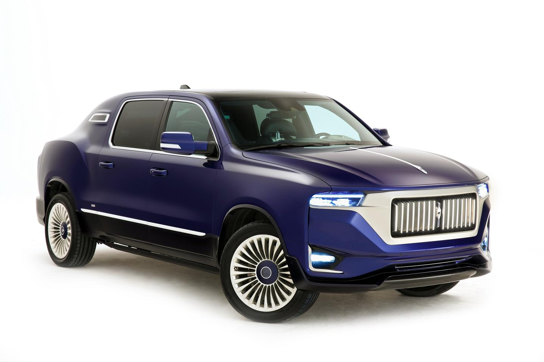 Aznom hides the Ram 1500 pickup bones with a bespoke luxury sedan body