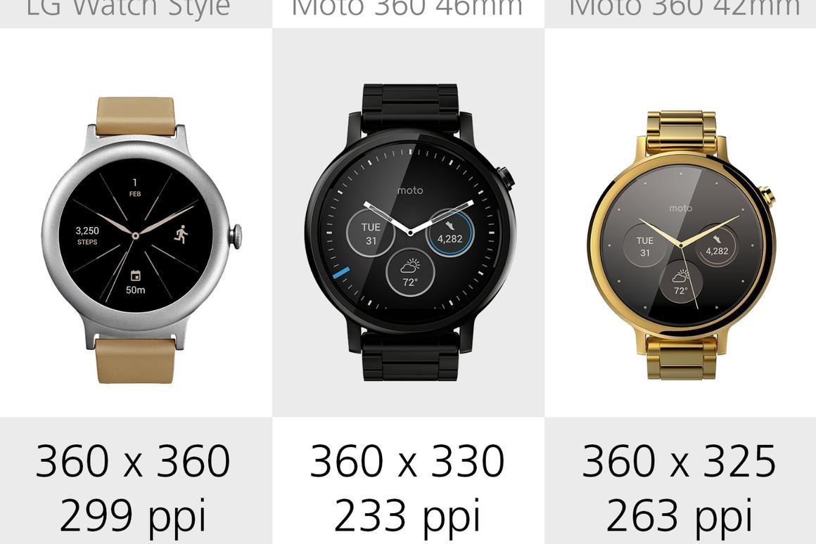 LG Watch Style vs  Moto 360 2nd gen