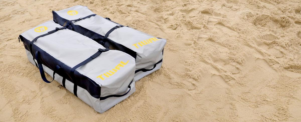 The TIWAL 3.2 is stored in two bags, each weighing 28 kg (60lbs) (Photo: Tiwal)