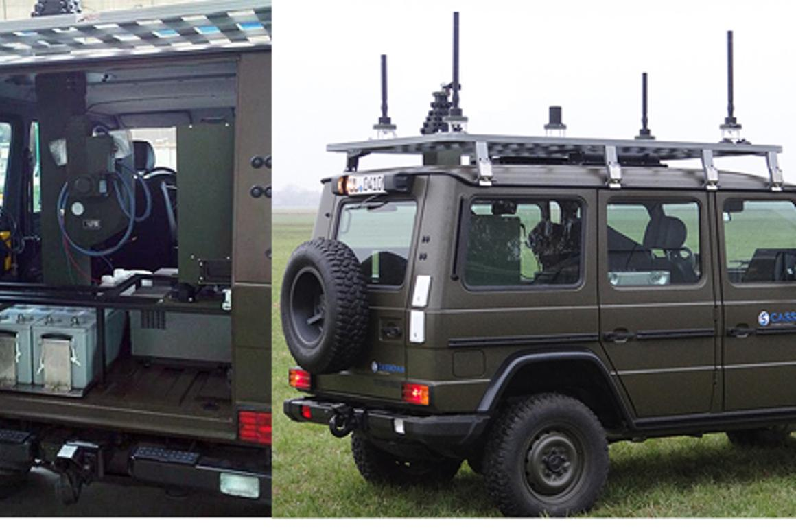 The Vehicle Protection Jammer is designed to block radio signals being transmitted to roadside bombs