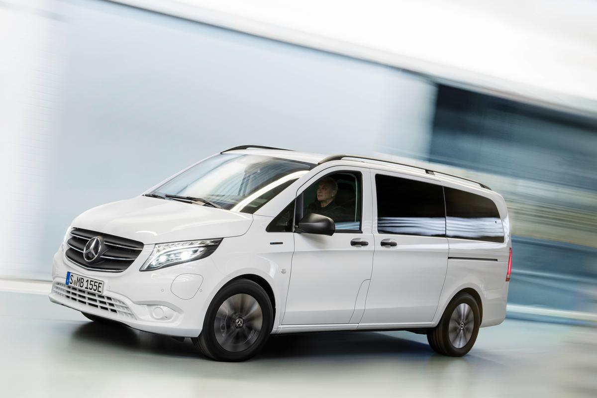 The eVito Tourer offers a zero-emissions service van option with more than 260 miles of estimated range