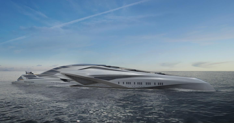 229-meter deconstructivist Valkyrie megayacht would be