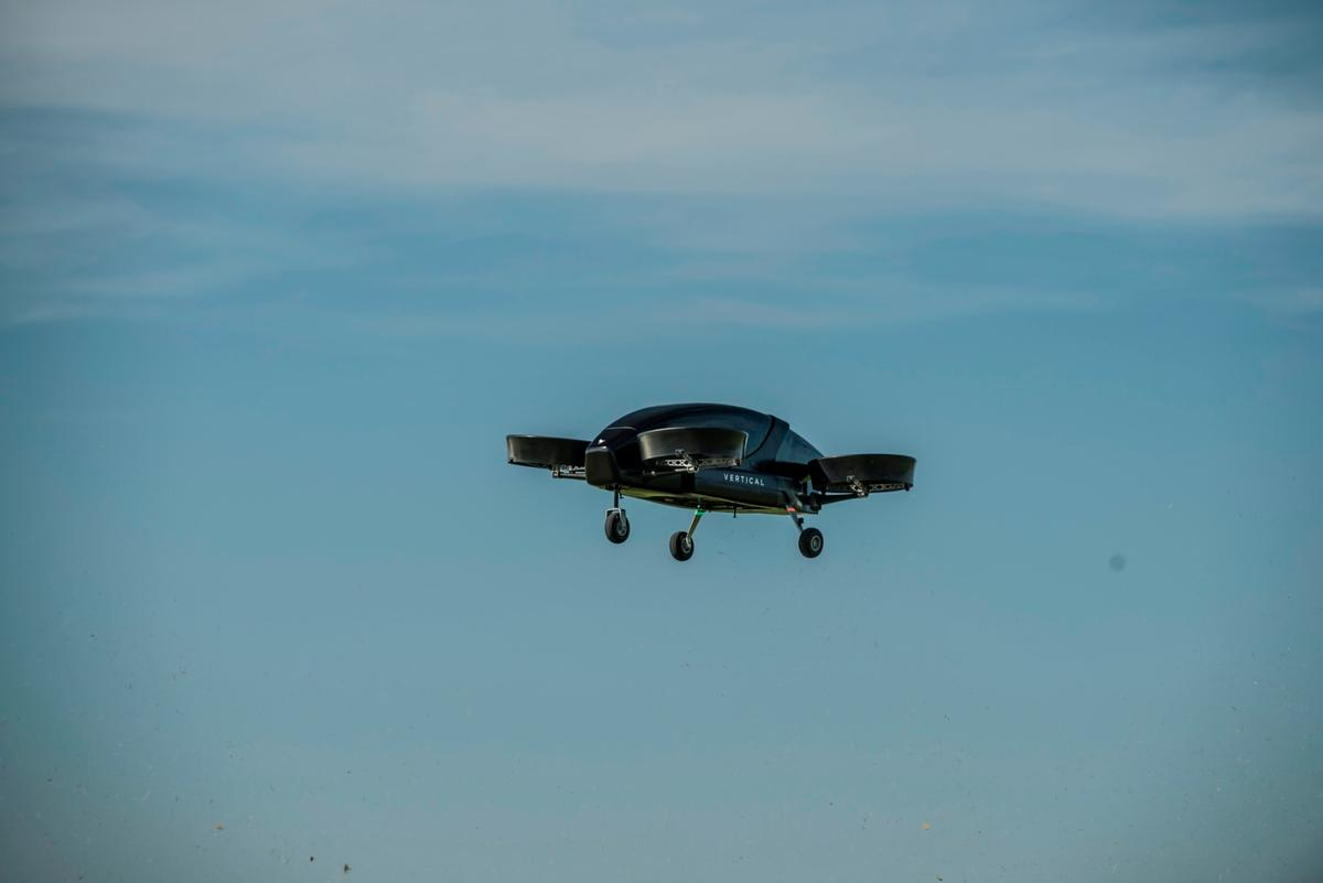 The Vertical Aerospace eVTOL prototype took to the air aboveCotswold Airport in June 2018