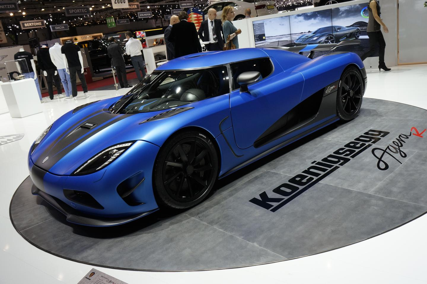 The Agera R on display at Geneva Auto Show 2012