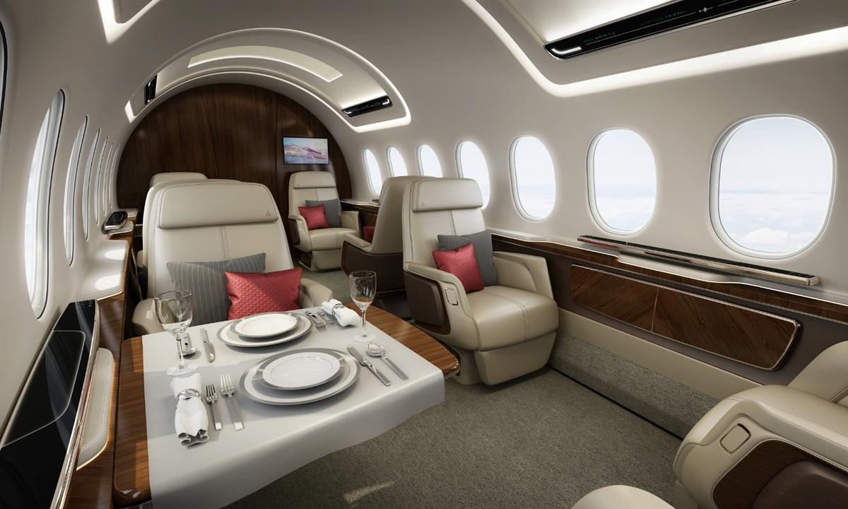 Interior of the AS2, which could become the world's first supersonic business jet to hit the market