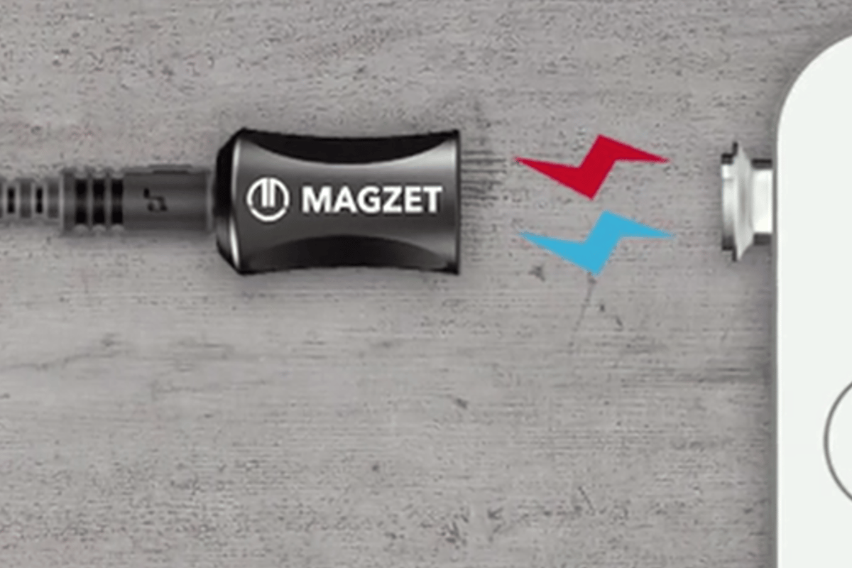 The Magzet allows users to plug in their audio devices with safer, easier-to-use magnets