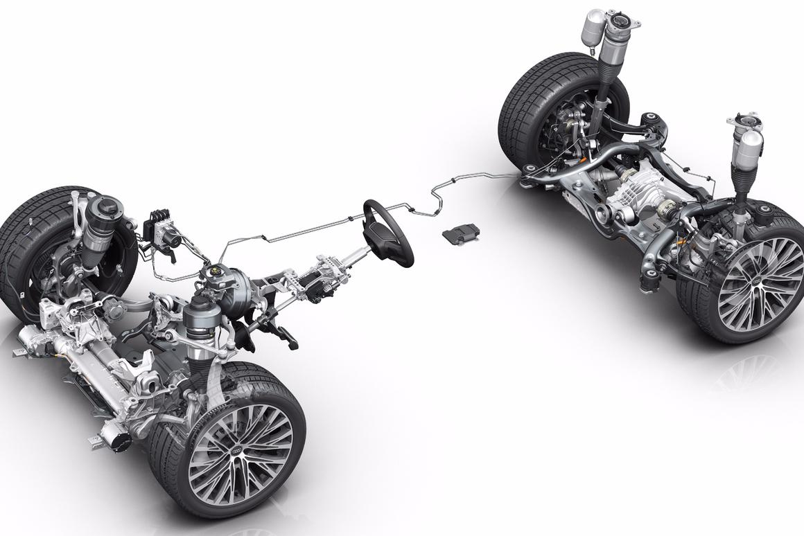 A technical breakdown of the proactive suspension system in the Audi A8