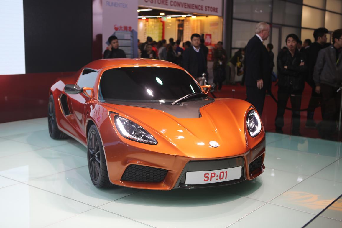 The Detroit Electric SP:01, publicly unveiled for the first time at the Shanghai Auto Show (Photo: Gizmag)