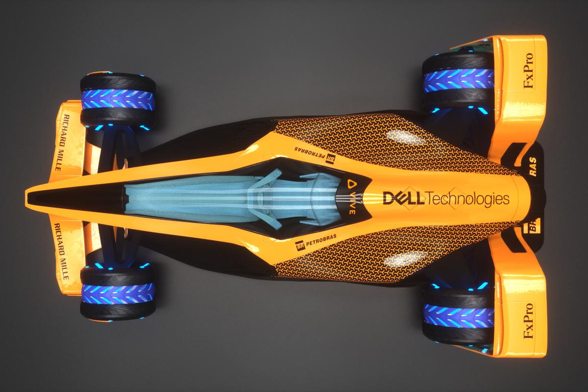 McLaren's vision for a 2050 electric F1 car