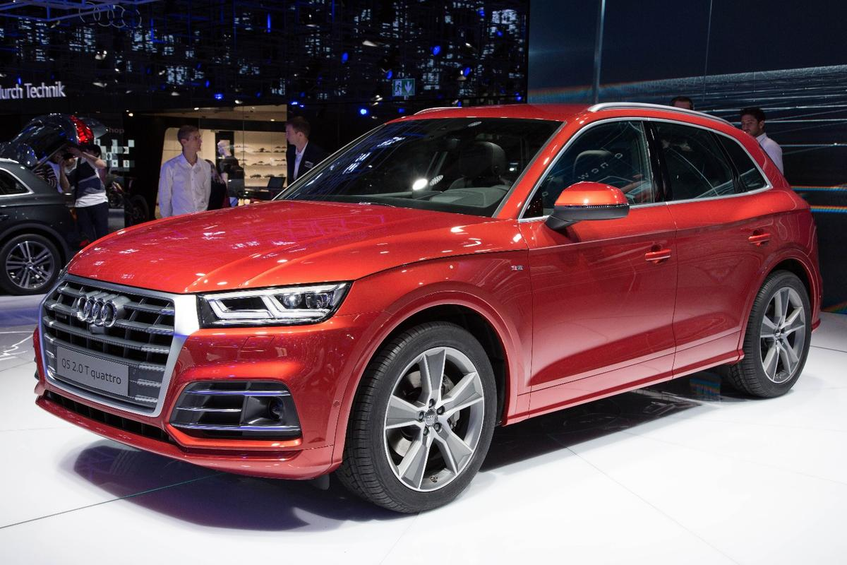 The Audi Q5 on the floor at the Paris Motor Show