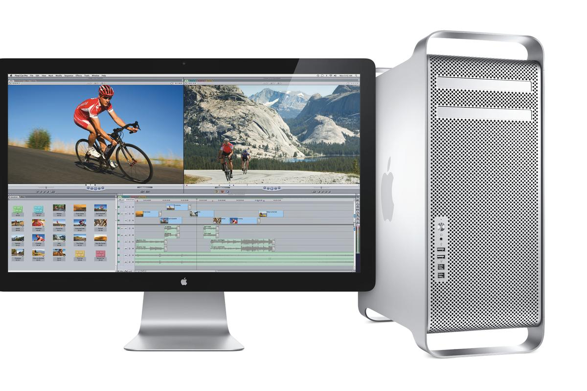 The new Mac Pro with the new Cinema Display