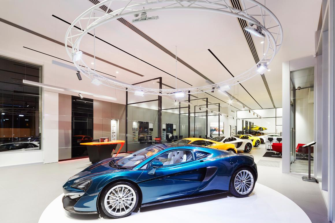 The 570GT sitting in the new McLaren Melbourne dealership