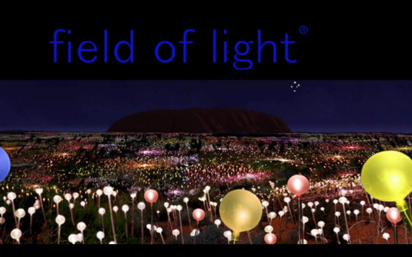 Munro's vision for a Field of Light at Uluru, Australia