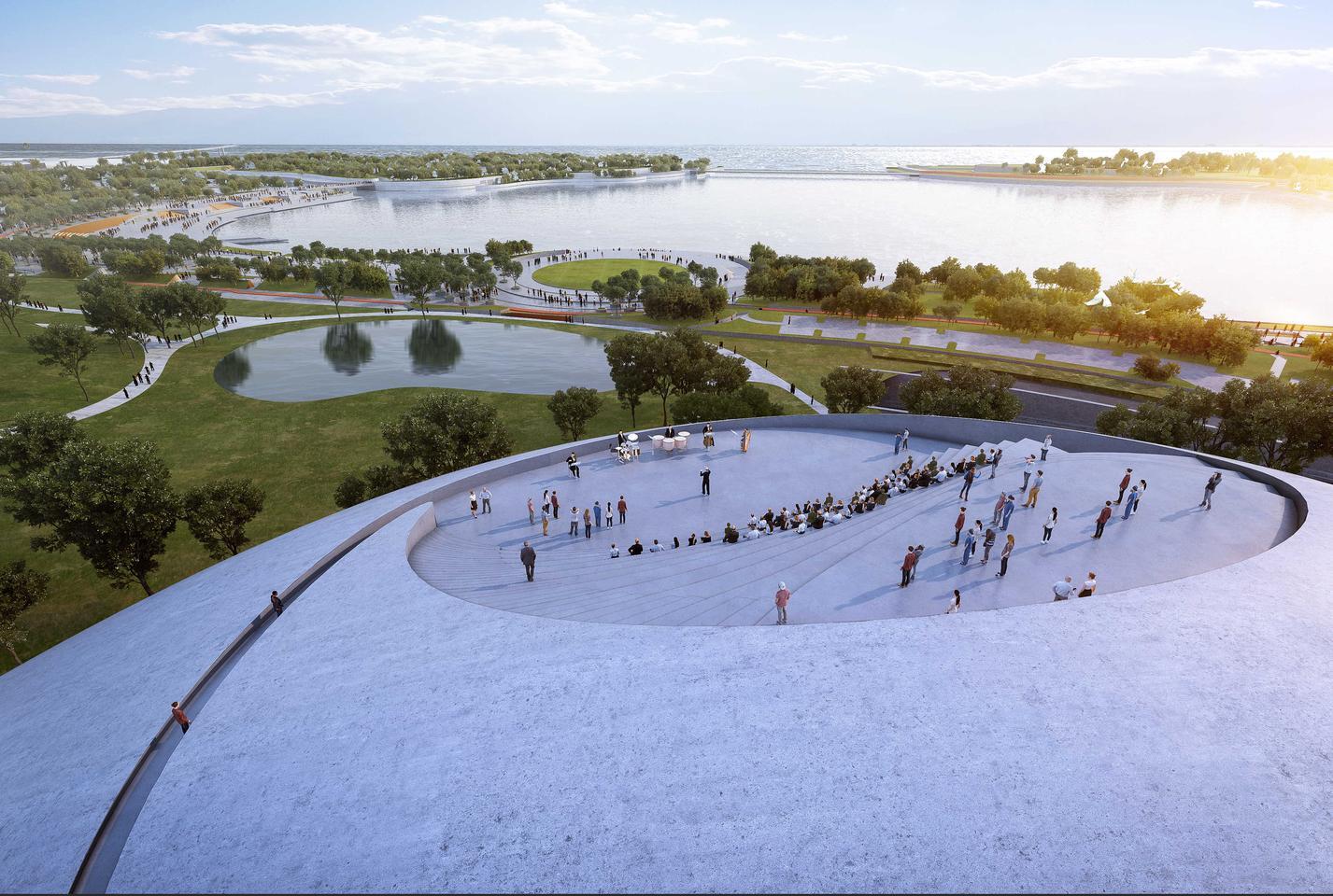 Парк культуры залива Шэньчжэнь будет включать смотровую площадку с видом на залив Шэньчжэнь и горизонт города.