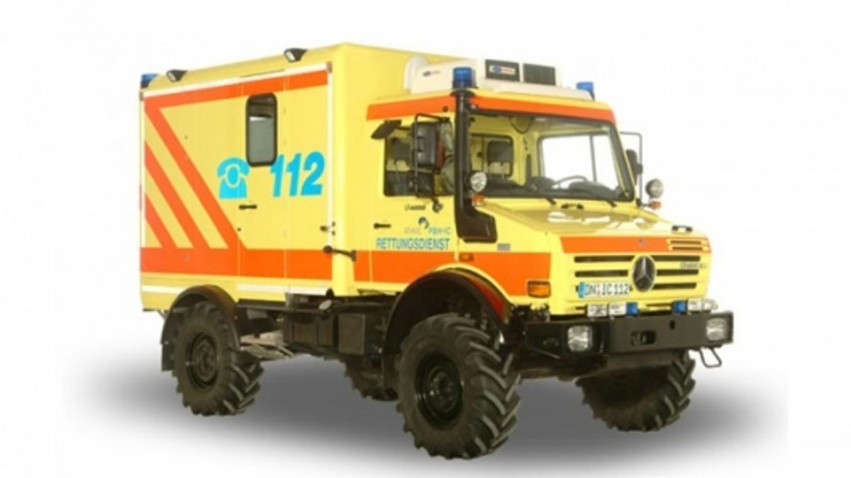 The box kit could be fitted to vehicles such as this mobile intensive care unit (MICU) based on the Unimog.