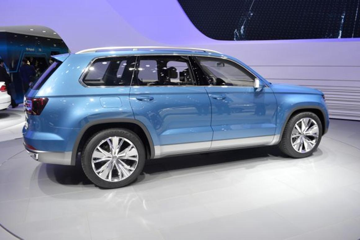 Volkswagen's CrossBlue hybrid SUV concept on show at the North American International Auto Show (Photo: C.C.Weiss/Gizmag.com)