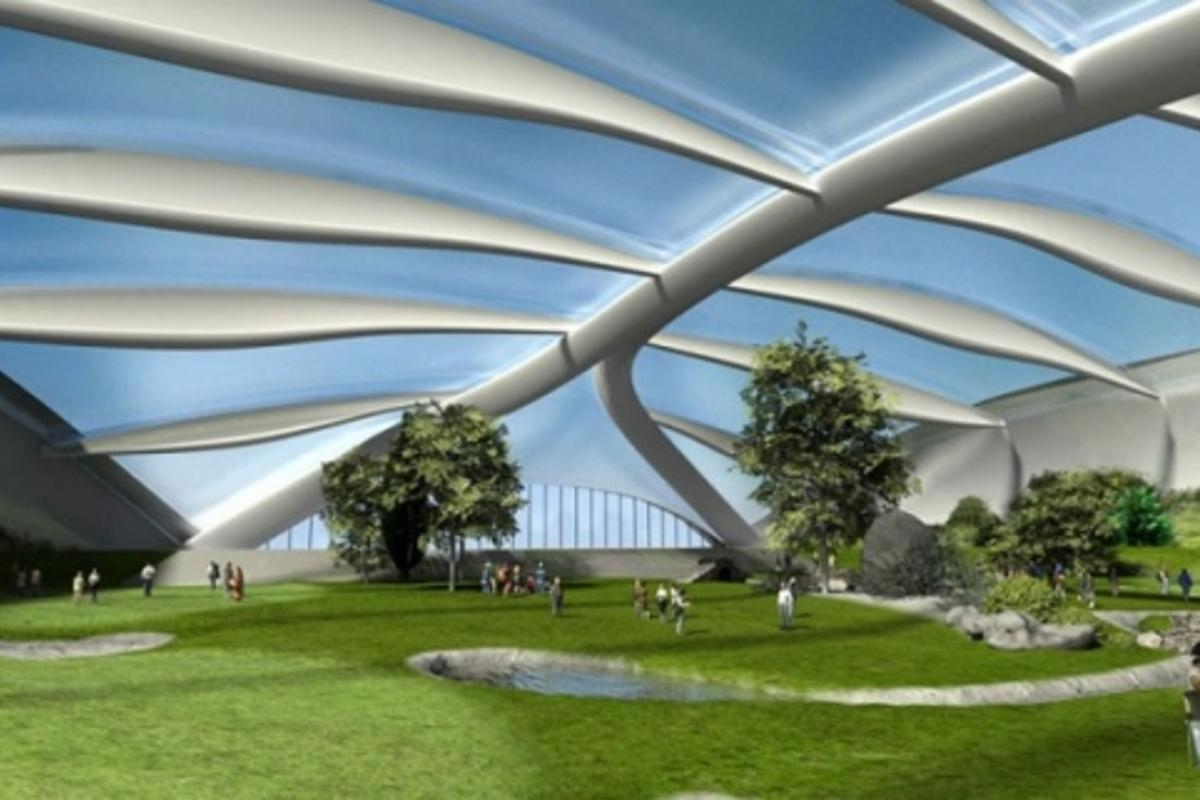 Plans for the world's largest indoor golf facilityImage: www.indoorgolfarena.eu