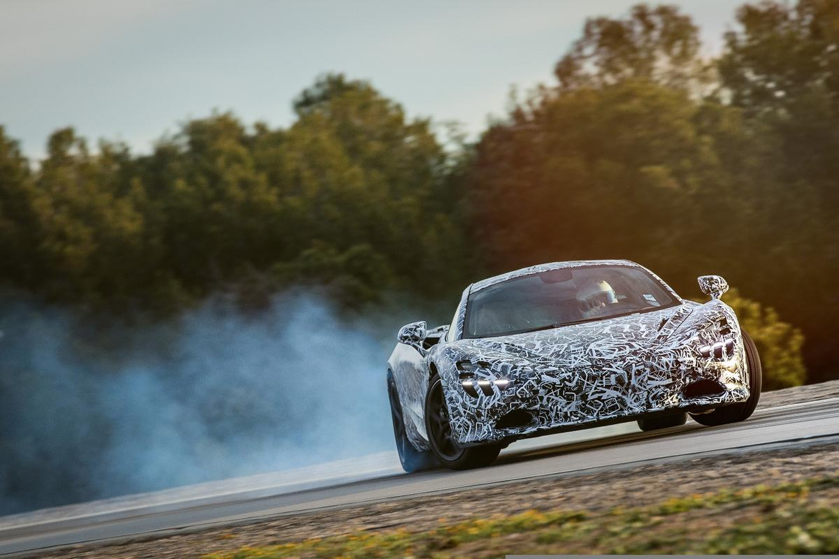 The new McLaren Super Series gets sideways