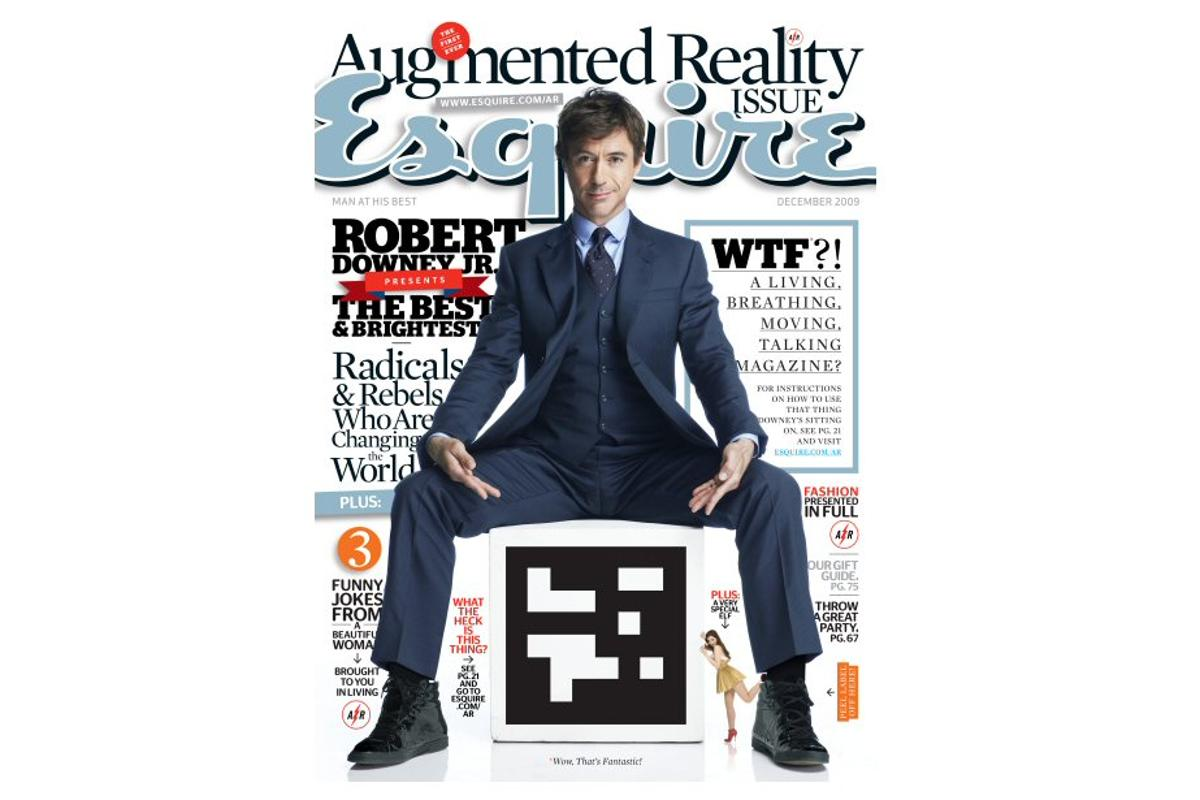 Esquire's December edition invites the reader to download special software which allows the magazine to interact with a PC via webcam