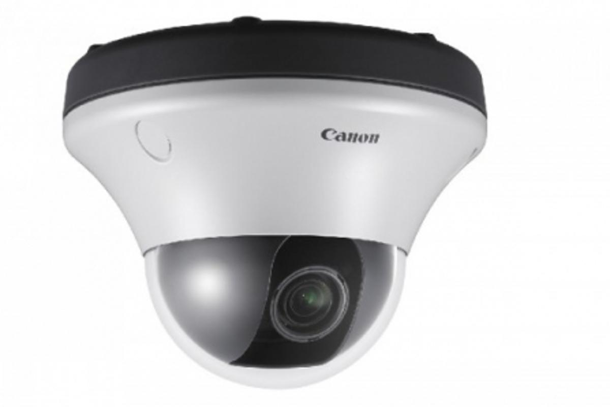 The Canon VB-C500VD vandal resistant mini dome network camera