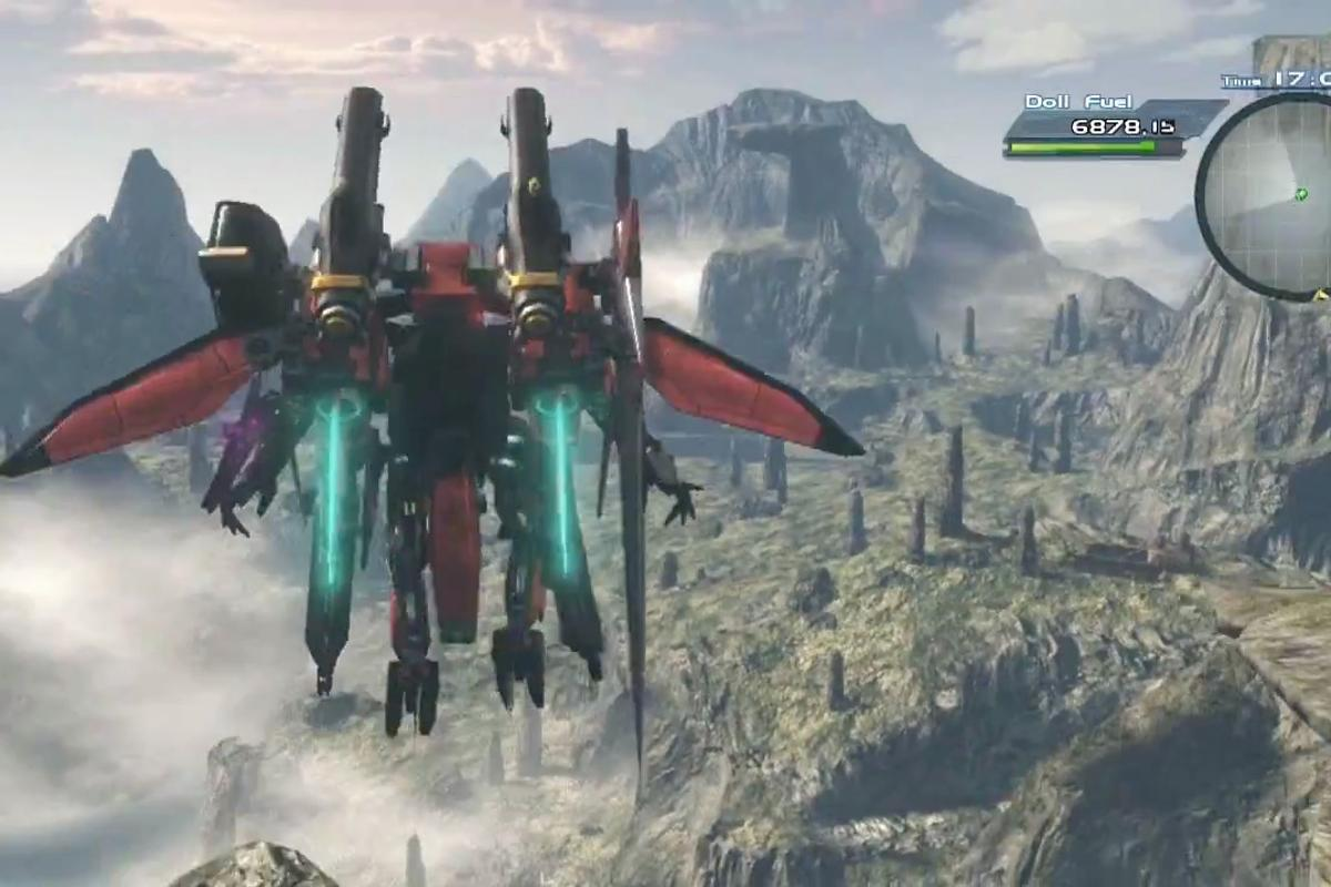 Flying in a giant robot looks like fun, in Monolith Soft's new Wii U role-playing game