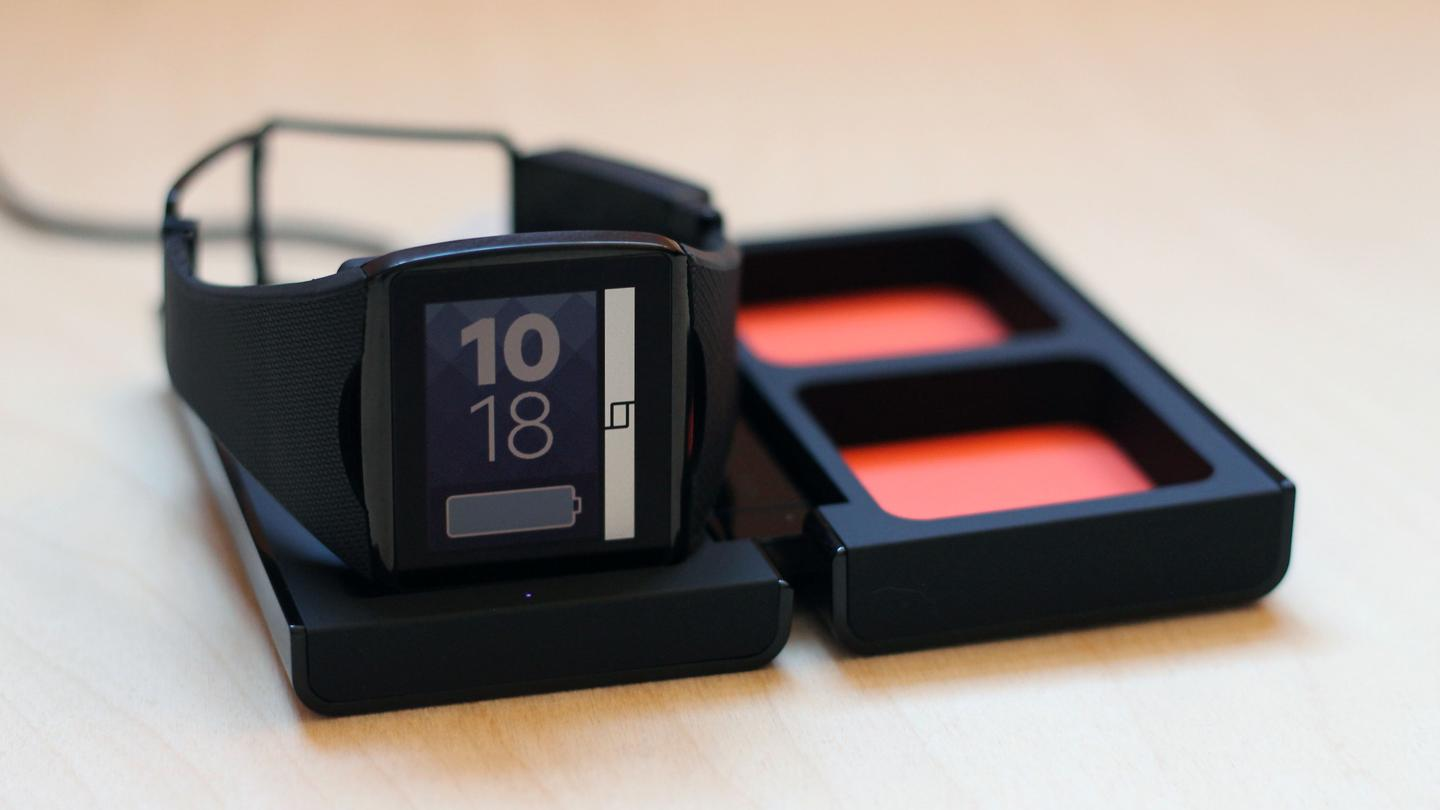 The Qualcomm Toq includes a wireless charging station
