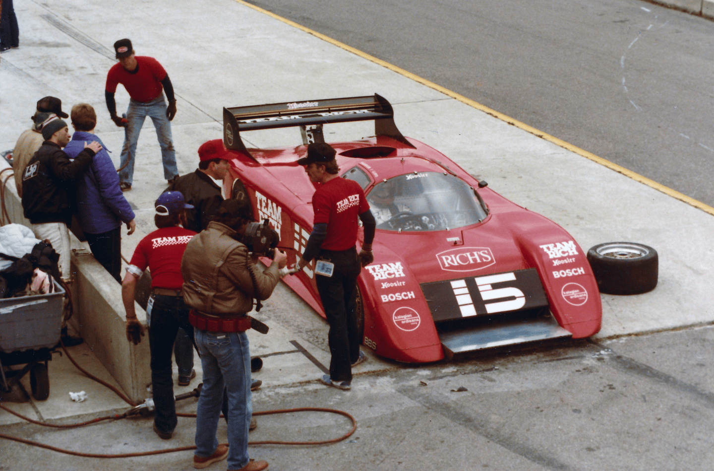 Although March's sports prototypes were overwhelmed by Porsche 962s in Group C racing in Europe, in Chevrolet V8-engined form they were popular choices for the IMSA GTP series in the USA, winning the IMSA titles in 1983 and 1984. The March 84G Chevrolet is, arguably, the best of the Adrian Newey-designed March GTP Sports Prototypes of its era. Only seven 84G models were built. Adrian Newey went on to become the most successful racing car designer in Formula One history, and is currently the chief technical officer of the Red Bull Racing Formula One team.