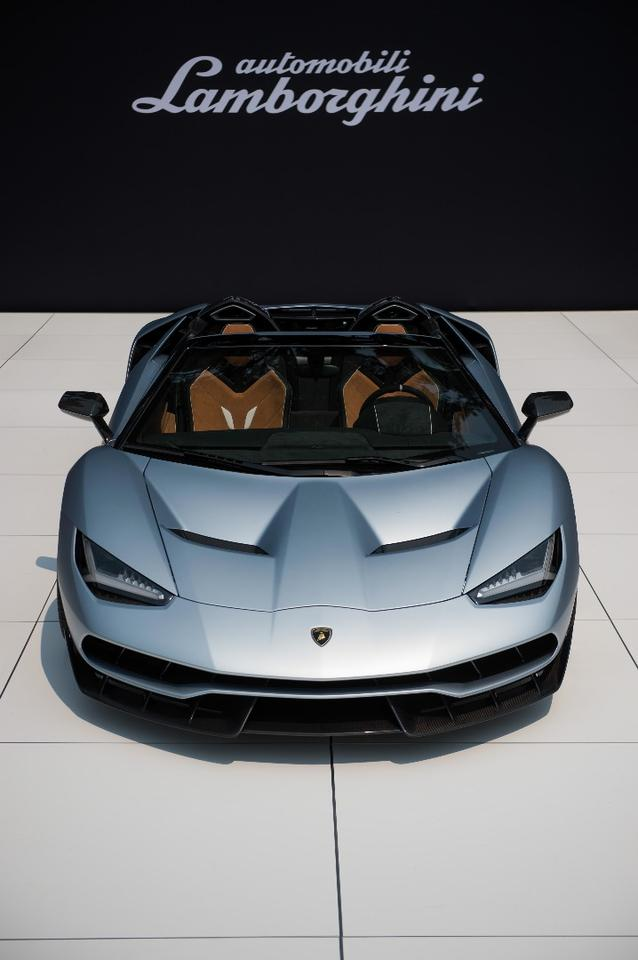 The Centenario Roadster on display at The Quail
