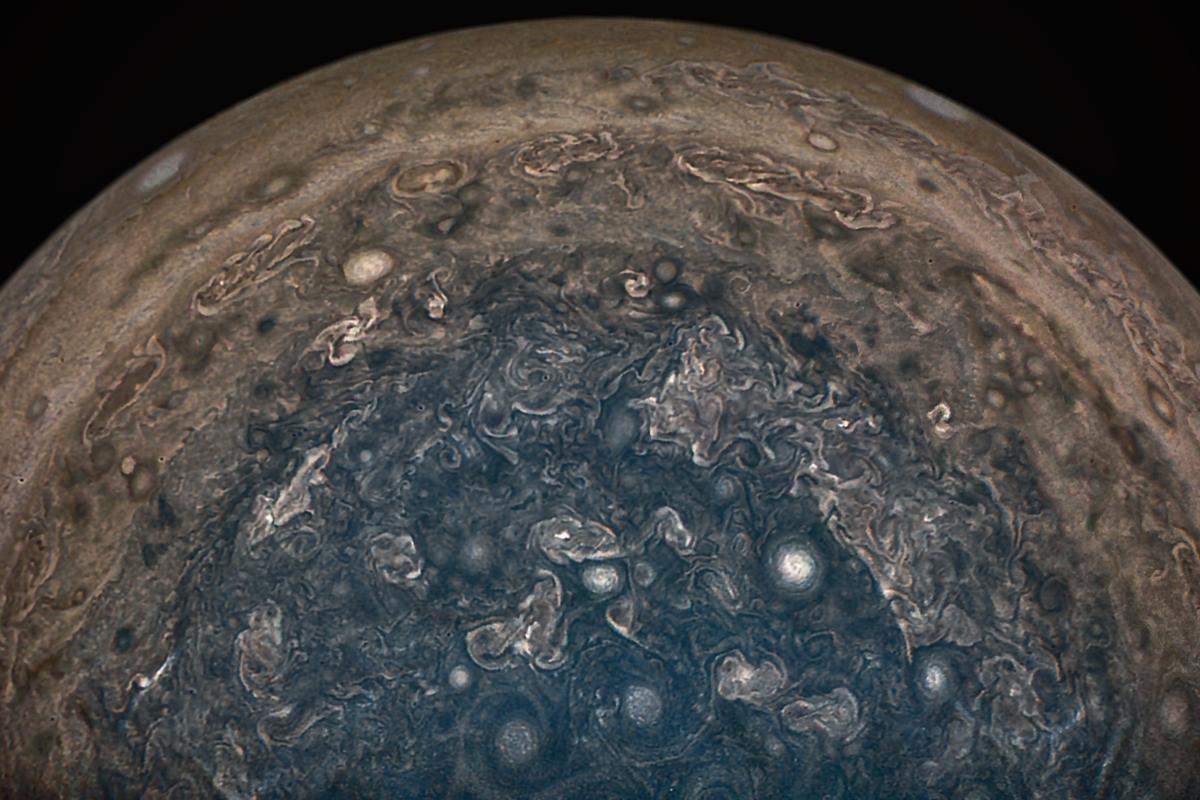 New data from the Juno probe has revealed cyclones over Jupiter's poles