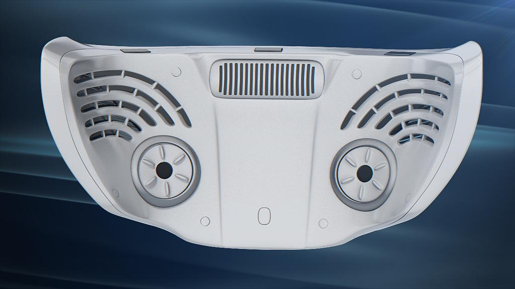 The mask features micro-coolers and heaters as well as tactile feedback, an ultrasonic ionizing system, a microphone, and an odor generator