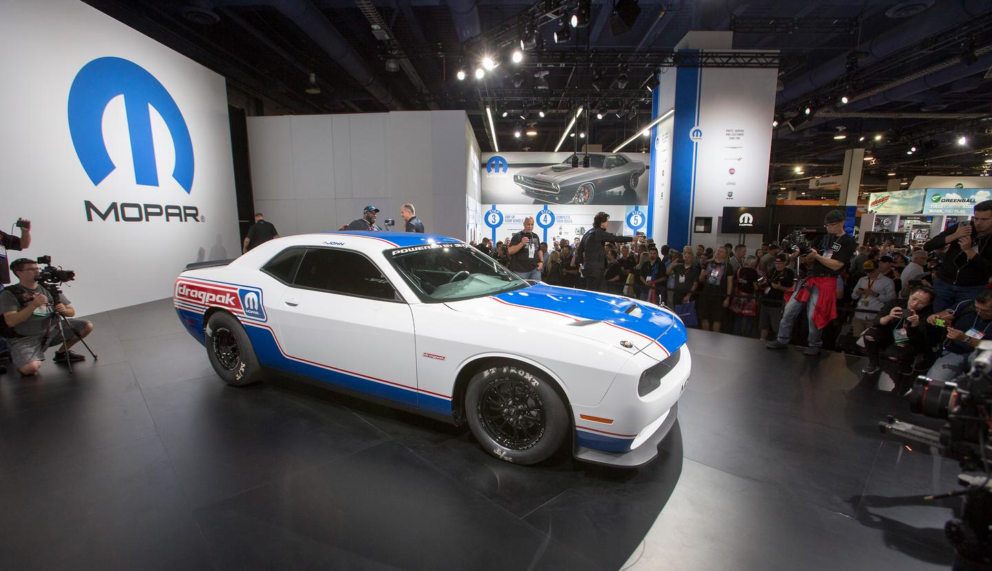The 4th-generation Mopar Dodge Challenger Drag Pak roared to life before a packed house at the 2019 SEMA Show