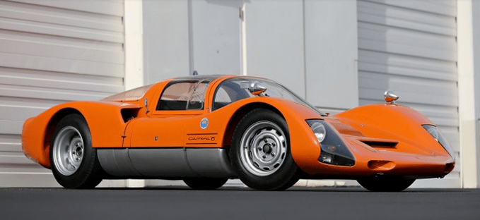 The first of a new generation, the Carrera 6 Type 906 redefined the concept of a modern Porsche race car, and its influence would be felt for many years, setting the stage for the all-conquering 917 program. The Carrera 6 was an immediate success in motor sports, debuting with a class win at the 1966 24 Hours of Daytona. From there, 906s went on to capture class wins at Sebring and Monza, followed by an outright victory at the Targa Florio. At the 24 Hours of Le Mans, 906s placed 4-5-6-7 behind three seven-liter GT40 Mk IIs, outlasting the prototype entries from Ferrari, Chaparral, and Matra.In total, Porsche built approximately 65 examples of the Carrera 6 between 1966 and 1967. Primarily run by a variety of privateer teams, 906s remained competitive at the highest levels of international racing well into the early 1970s, a testament to their inherent strength and versatility. This 1966 Porsche 906 Carrera 6 sold by Gooding & Co. for US$1,980,000.
