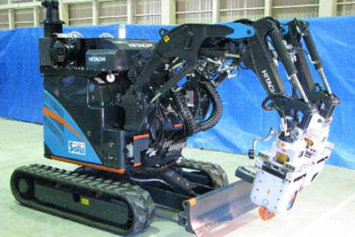 Hitachi's ASTACO-SoRa robot will remove rubble from the Fukushima Daiichi nuclear plant in 2013