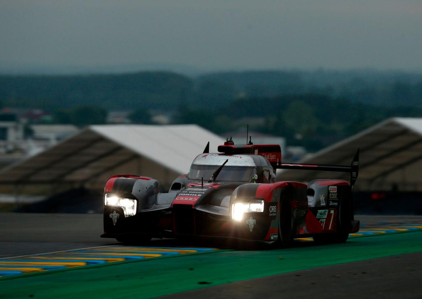 The Audi R18 on its way round Le Mans