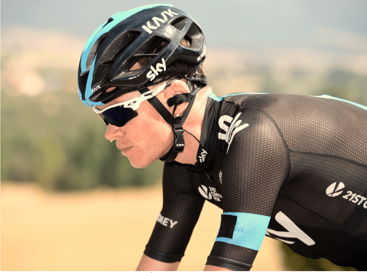 Chris Froome is using the Turbine during Vuelta a Espana