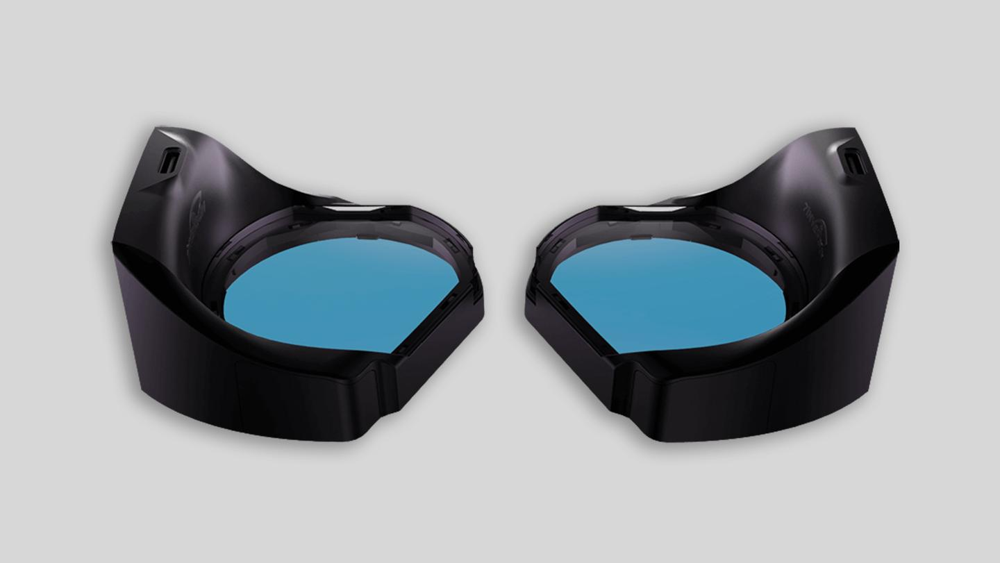 aGlass is an upgrade kit that brings eye-tracking technology to the HTC Vive