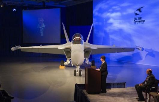 Boeing delivers the EA-18G Growler, a carrier based electronic warfare plane.