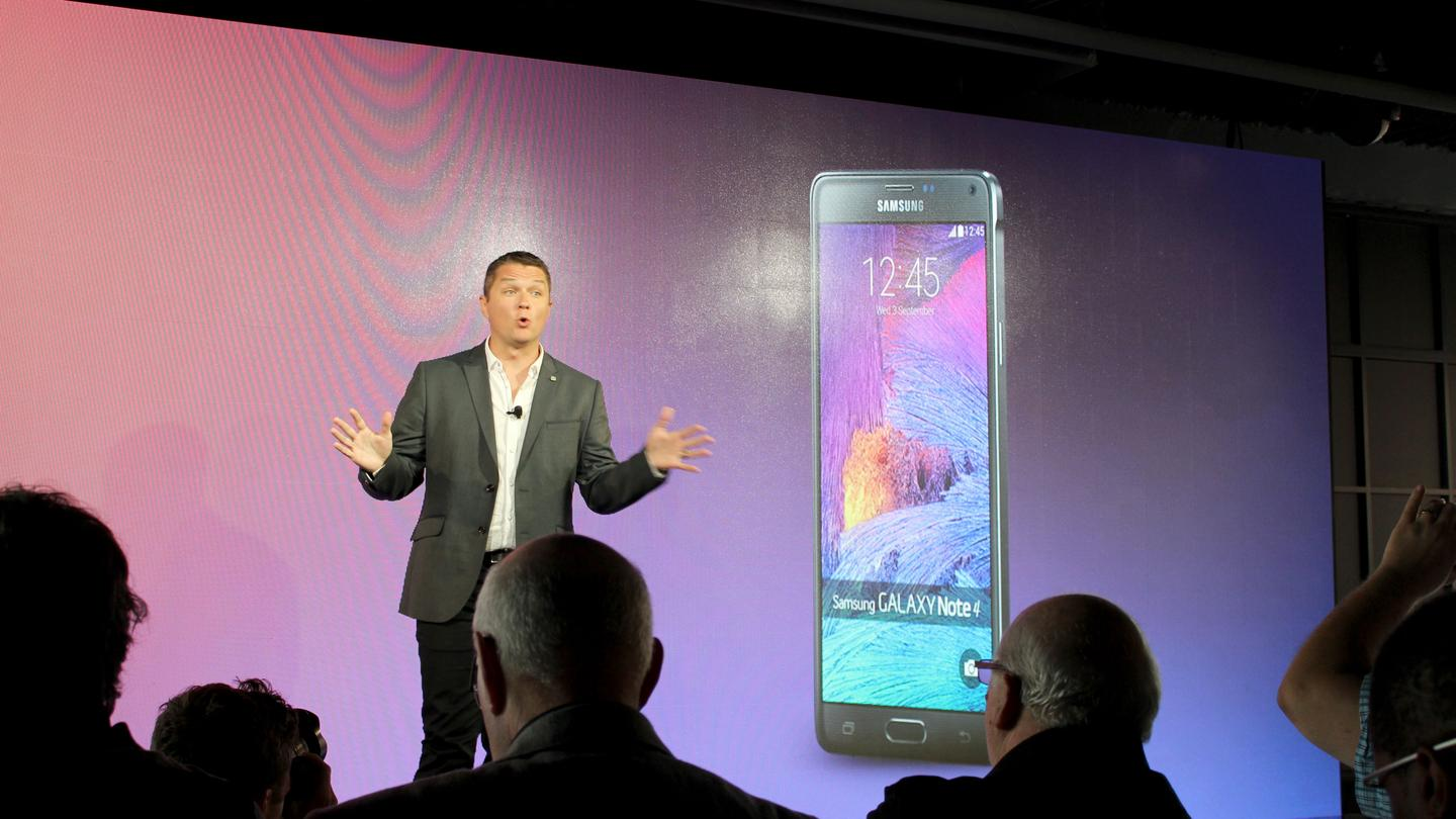 Samsung pulled back the curtain on the Note 4 in an event in NYC (there were simultaneous events in Berlin and Beijing) (Photo: Will Shanklin/Gizmag.com)