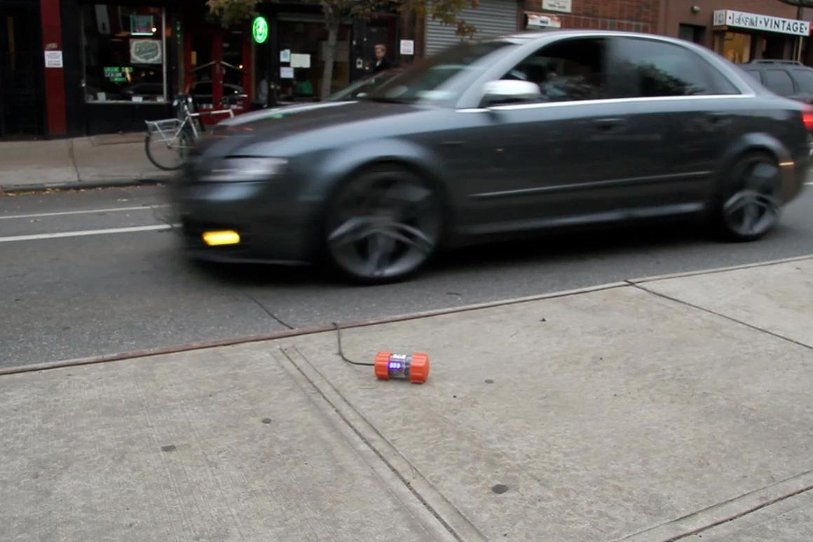 TrafficCOM is a traffic-counting device intended for use by everyday people