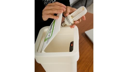 A 'Smart Trash' concept receptacle with scanner to keep track of trash