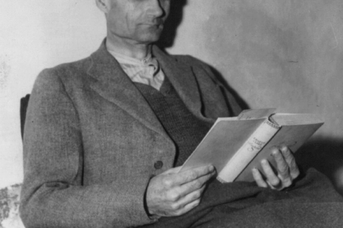 Rudolph Hess in prison in 1945