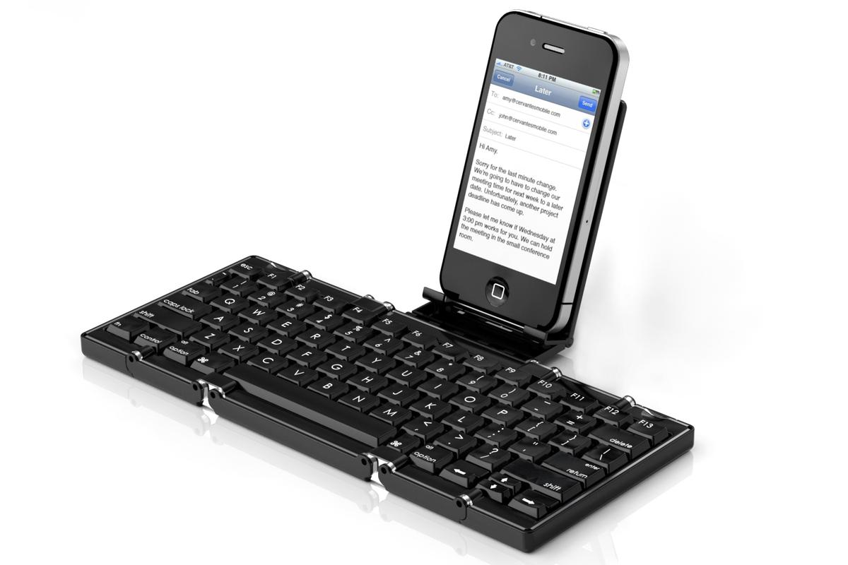 The Jorno folding Bluetooth keyboard makes typing on an iPhone much more pleasant