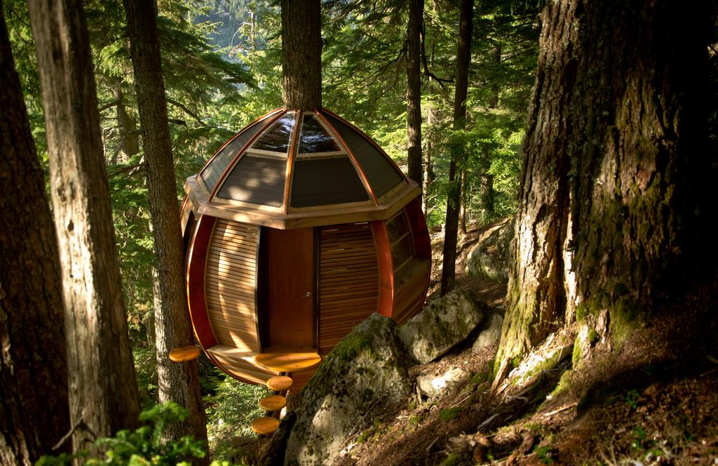 """Described by its creator as """"a secret treehouse hiding in the woods of Whistler,"""" the story of the HemLoft is one with an uncertain ending (Photo: Heidi Hermanski)"""
