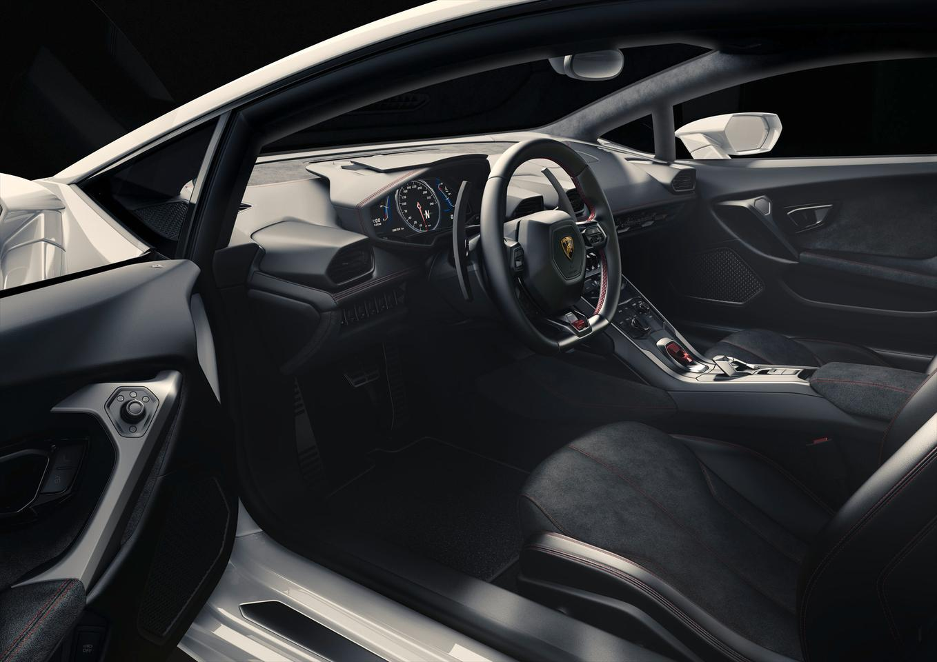 A Nappa leather/Alcantara soaked interior also supports a 12.3 inch TFT instrument panel for navigation, engine and infotainment details